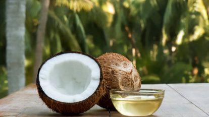 olio di cocco con noce